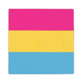 Pansexual   Pride Flag Design   Stripes   Wood Coaster
