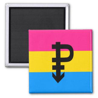 Pansexual Pride Flag Square Magnet