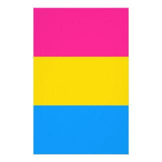 Pansexual pride flag customised stationery