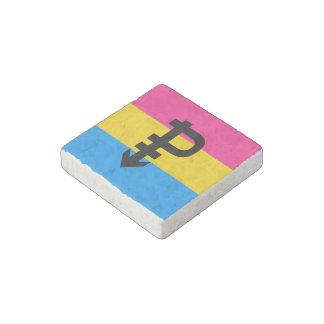 Pansexual Pride Flag Stone Magnet