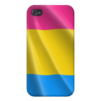 PANSEXUAL PRIDE FLAG WAVY DESIGN CASES FOR iPhone 4