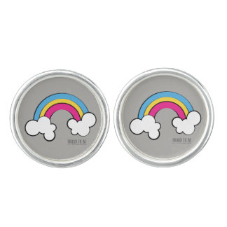 Pansexual | Rainbow Design | Cufflinks