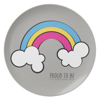 Pansexual   Rainbow Design   Plate