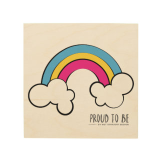 Pansexual | Rainbow Design | Wood Wall Art