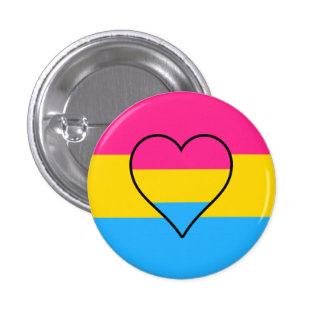 Pansexuality flag button pins