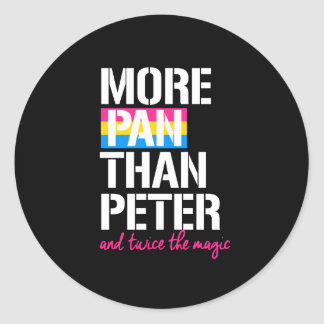 Pansexuality - More Pan Than Peter and twice the m Classic Round Sticker