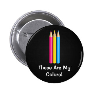 Pansexuality pride pencils Button Buttons
