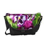 Pansie Floral Rickshaw Messenger Bag