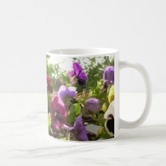 Pansies - abstract art coffee mug
