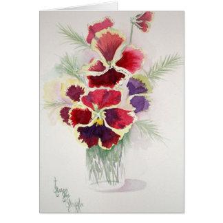 Pansies and Ewe in Jelly Jar Card
