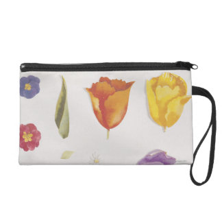 Pansies and Tulips Wristlet