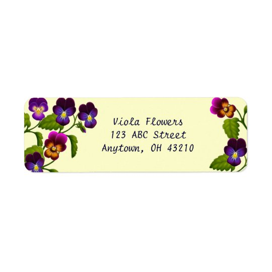 Pansies and Violas Customisable Labels