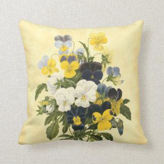 Pansies and Violets Vintage Art Cushions
