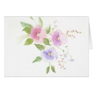 Pansies Card
