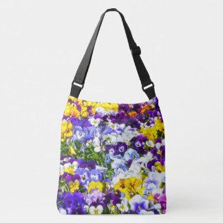 Pansies Crossbody Bag