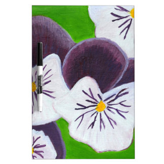 Pansies Dry Erase Board