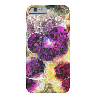 Pansies Flowers Abstract Art, iPhone 6/6s Case