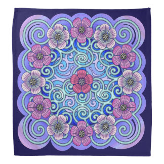 Pansies for Peace Bandana