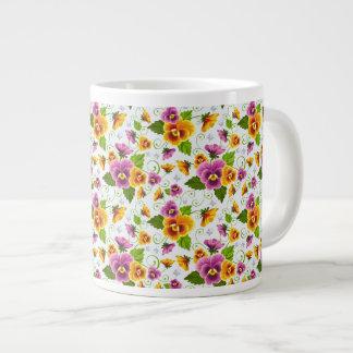 Pansies Giant Coffee Mug