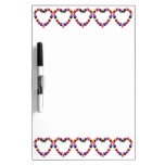 Pansies Heart Dry Erase Board