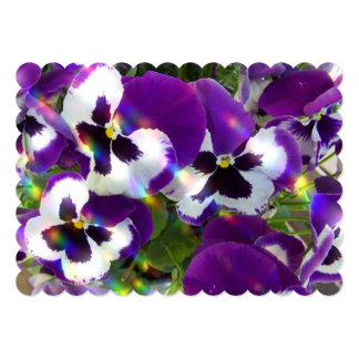 Pansies Personalized Announcements