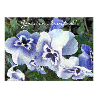 PANSIES PERSONALIZED INVITE
