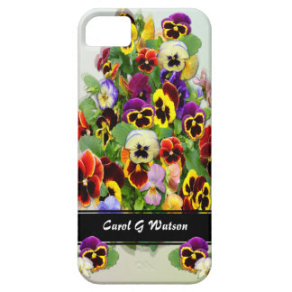 Pansies ~ iPhone 5 Barely There Universal Case