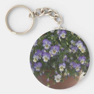pansies key ring