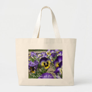 Pansies on Parade! Canvas Bags