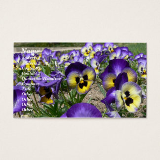 Pansies on Parade Business Card
