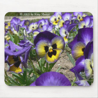 Pansies on Parade Mouse Mat