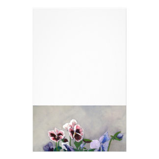 Pansies Personalized Stationery