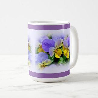 Pansies - Purple and Yellow Coffee Mug