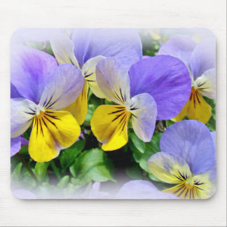 Pansies - Purple and Yellow Mouse Pad