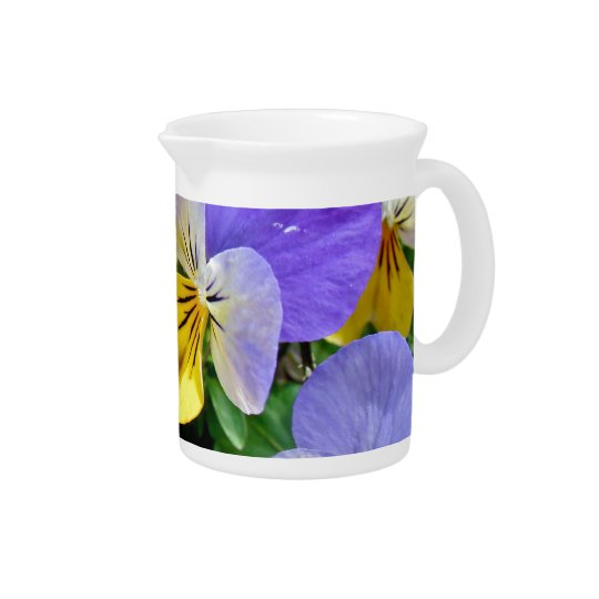 Pansies - Purple and Yellow Pitcher