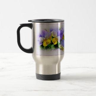 Pansies - Purple and Yellow Travel Mug