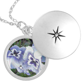 PANSIES SILVER PLATED NECKLACE