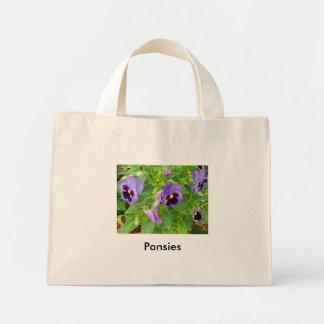 Pansies Mini Tote Bag
