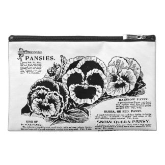 Pansies Travel Accessory Bag