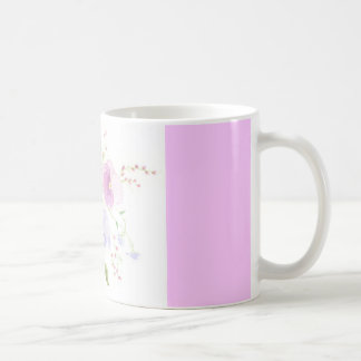 Pansies watercolor mug