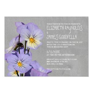 Pansies Wedding Invitations