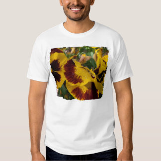 Pansies with Water Droplets Tee Shirts