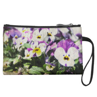 Pansies Wristlet Clutch