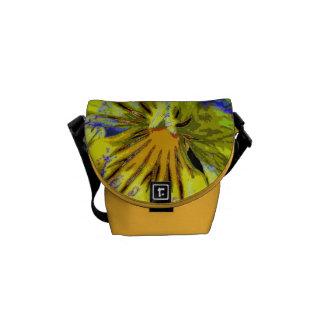 Pansy Abstract Courier Bags