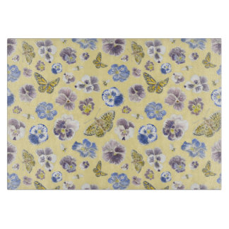 Pansy and Butterfly Cutting Board
