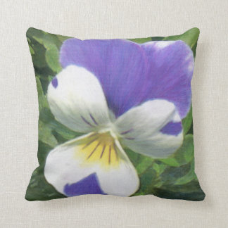 Pansy and Purple Asters Cushion