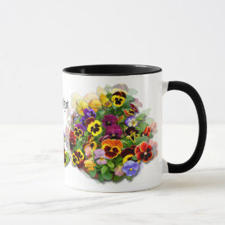 PANSY BEAUTY ~ Ringer Mug