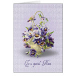 Pansy Birthday for Niece Greeting Card