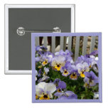 Pansy Blues Fence 15 Cm Square Badge