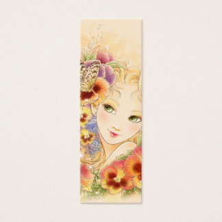 Pansy Bookmark Mini Business Card